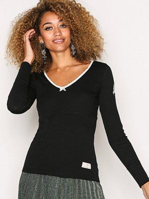 Toppar - Odd Molly Rib Jersey L/S Top Almost Black