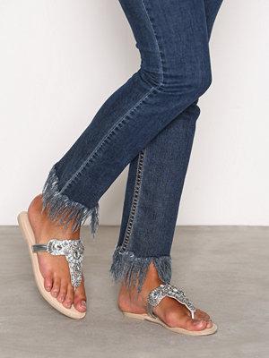 Sandaler & sandaletter - NLY Shoes Embellished Sandal Silver