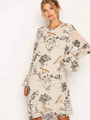 Selected Femme Sflima Ls Dress Ljus Grå