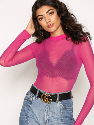 NLY Trend Light Mesh Top Fuchsia