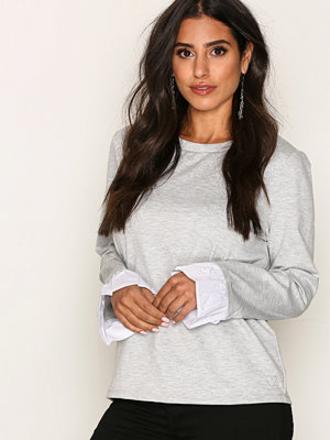 Only onlCALLY L/S Top Jrs Ljus Grå