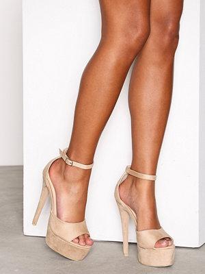 Pumps & klackskor - NLY Shoes Platform Stiletto Sandal Beige