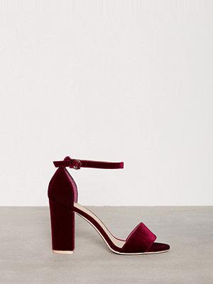 Pumps & klackskor - NLY Shoes Block Heel Sandal Burgundy