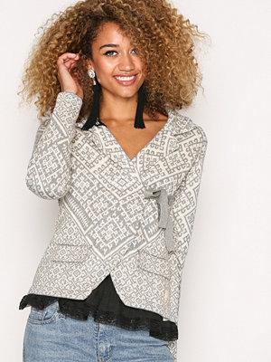 Odd Molly Lovely Knit Jacket Light Grey