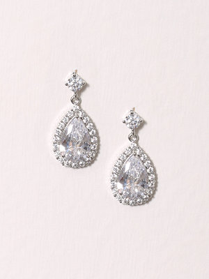 New Look Cz Stoned Teardrop Crystal