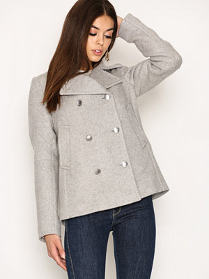 Kappor - Gant O1. Bonded Wool Pea Coat Light Grey Melange