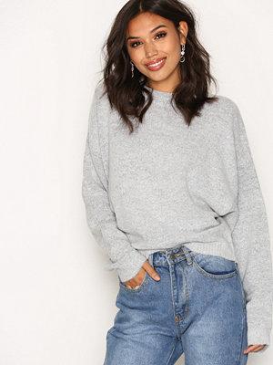 NLY Trend Sleeve Focus Knit Light Grey Melange
