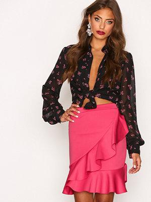 Kjolar - NLY Trend Frill Skirt Rosa
