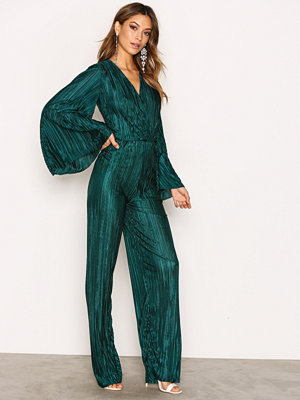Jumpsuits & playsuits - NLY Trend Pleated Kimono Jumpsuit Dark Green