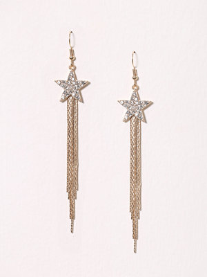 New Look Star Tassel Earring Crystal