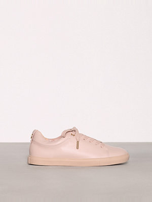 Topshop COFFEE Lace Up Trainers Nude