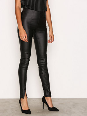 Leggings & tights - Vero Moda Vmcara Hw Coated Leggings Svart