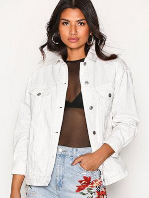 Topshop MOTO Off White Oversize Denim Jacket Cream
