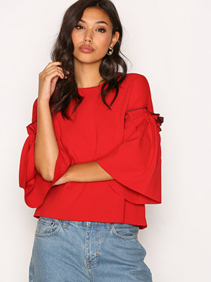 Dagmar Ruthie Blouse Lipstick Red