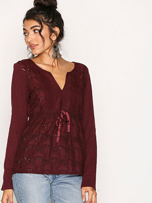 Odd Molly Summer Night L/S Blouse Burgundy