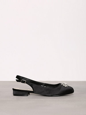 Ballerinaskor - NLY Shoes Embellished Ballerina Svart