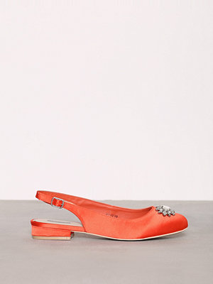 Ballerinaskor - NLY Shoes Embellished Ballerina Coral