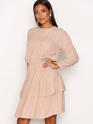 Y.a.s Yasalena Ls Dress Ljus Brun