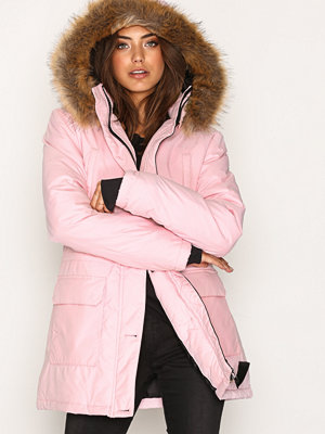 NLY Trend City Parka Rosa