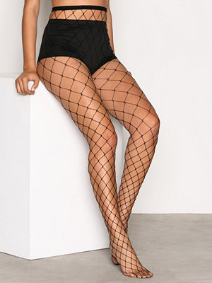 Strumpbyxor - NLY Lingerie Big Fishnet Tights Svart