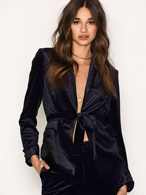 NLY Trend Have It All Velvet Blazer Mörk Blå
