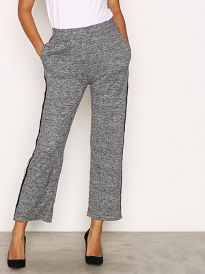 Sisters Point grå byxor Viona Pants Grey Melange