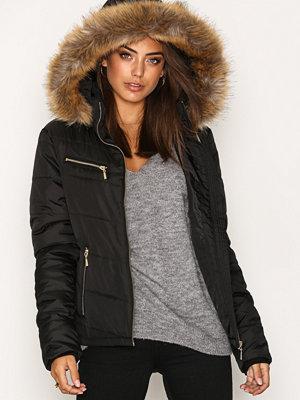 NLY Trend Flirty Puffer Jacket Svart