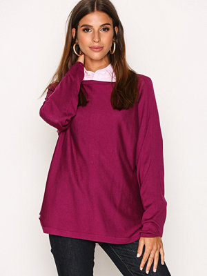 Lauren Ralph Lauren Fintra Long Sleeve Sweater Berry