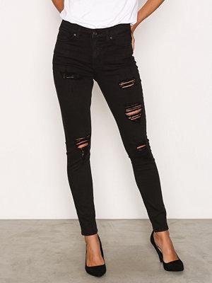 Topshop Super Rip Jamie Jeans Black