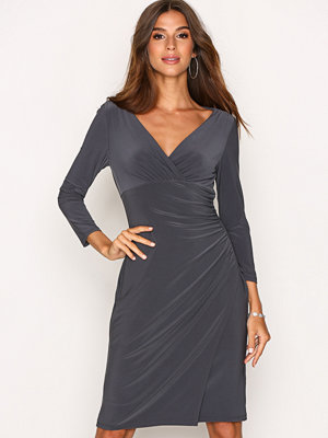 Lauren Ralph Lauren Elsie 3/4 Sleeve Day Dress Grey