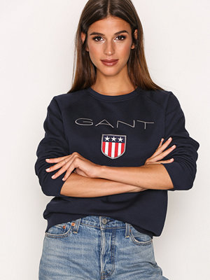 Gant Shield Logo C-Neck Sweat Evening