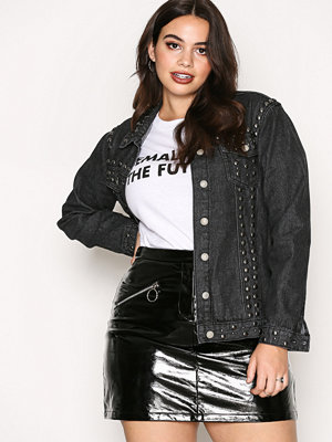 Jeansjackor - Glamorous Stud Jeans Jacket Washed Black