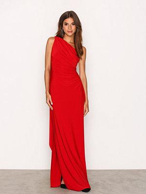 Lauren Ralph Lauren Lisa Mae Sleeveless Evening Dress Red