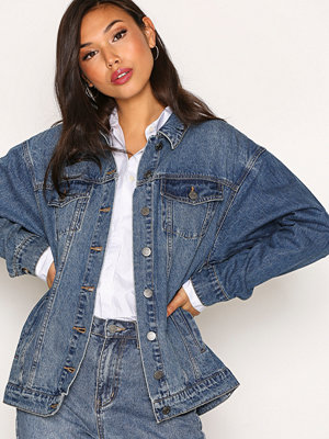 Noisy May Nmoli Denim Jacket Mid Blue Ns Blå