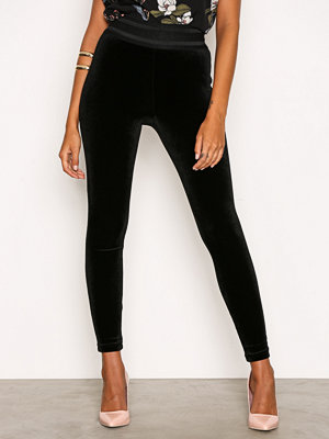 Leggings & tights - Only onlLETS Talk Velvet Ankle Leggings Svart