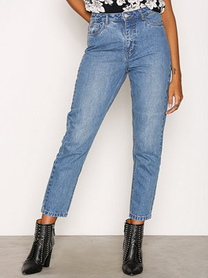 Only onlKELLY Mom Dnm JEANSBj10541 Blå