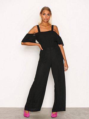 Jumpsuits & playsuits - Glamorous Frill Strap Jumpsuit Black