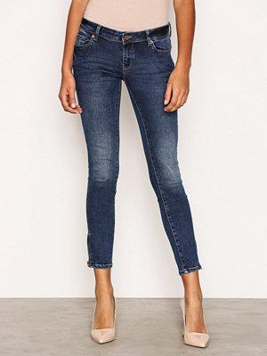 Vero Moda Vmfive Lw Ss Ankle Jeans AM211 Mörk Blå