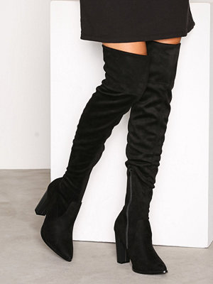 Bianco Overknee Stretch Boot Black