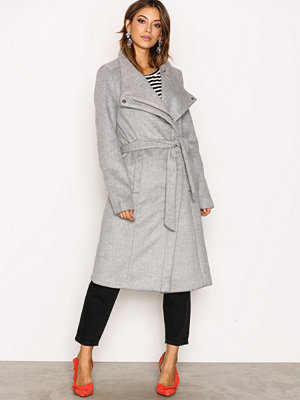 Only onlMARY Long Wool Coat Otw Ljus Grå