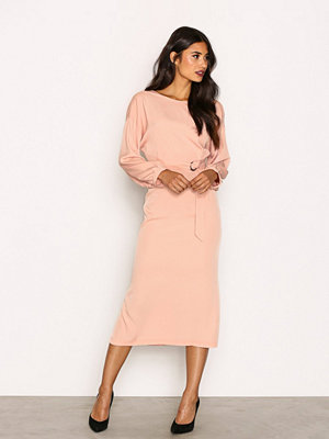 Topshop D-Ring Wrap Midi Dress Pink