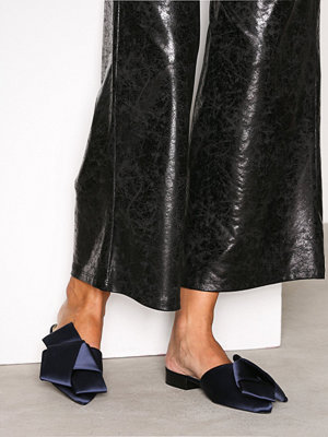 Tofflor - River Island Bow Backless Loafer Navy