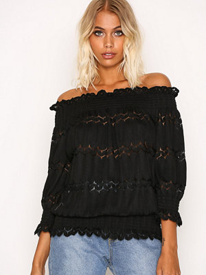 River Island SS Bardot Top Black