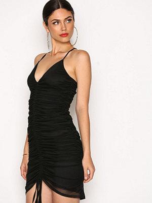 NLY One Drawstring Mesh Dress Svart