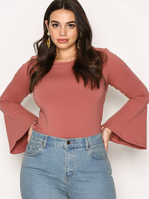 Only onlLIVE Love Bell Sleeve Top Rosa