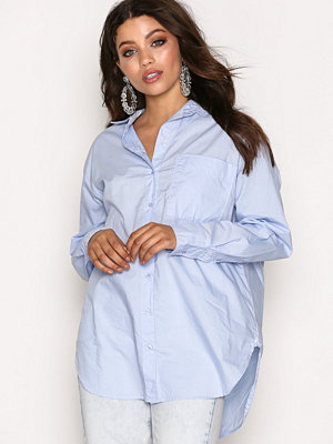 Topshop Poplin Shirt Light Blue