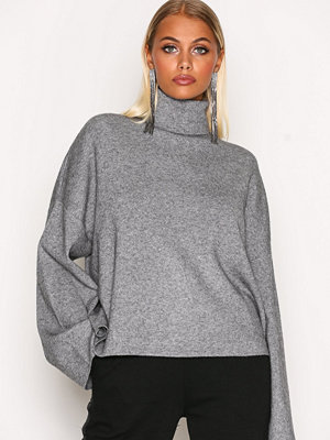 Tröjor - Noisy May Nmship L/S Roll Neck Knit 5 Grå