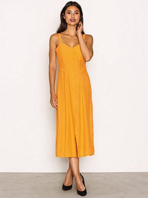 Topshop Corset Detail Slip Dress Yellow