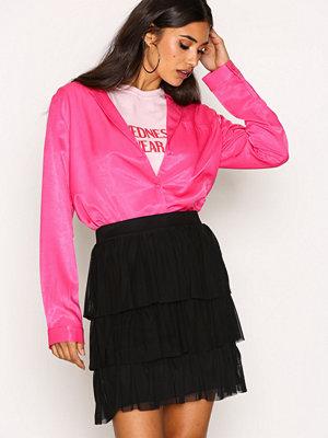 NLY Trend Mesh Flounce Skirt Svart