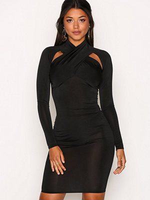 NLY One Shoulder Cut Dress Svart